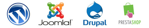 Wordpress , Joomla, Drupal , Prestashop